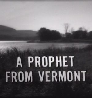 A Prophet From Vermont poster